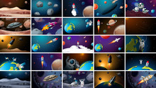 Large Set Of Different Space S...
