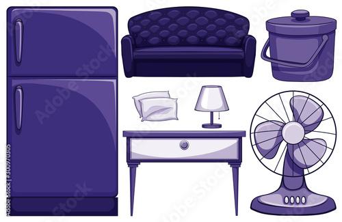 Papiers peints Jeunes enfants Household furnitures in blue