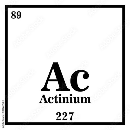 Photo Actinium Periodic Table of the Elements Vector illustration eps 10