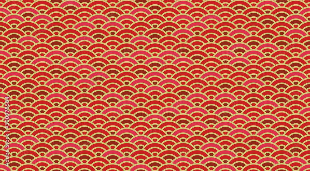 Chinese and Japanese wave seamless wallpaper.