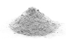 Pile Of Cement Powder Isolated...