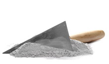 Cement Pile And Trowel Isolate...