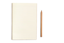 Notebook With Pencil Isolated ...