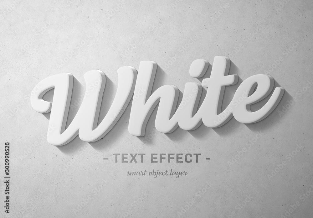Fototapety, obrazy: White 3D Text Effect