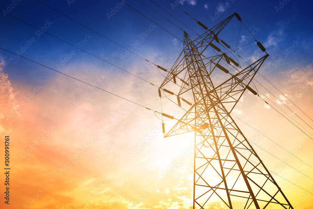 Fototapety, obrazy: High voltage post or High voltage tower