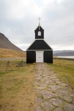 Kleine Kirche In Raudisandur In Islands Westfjorden