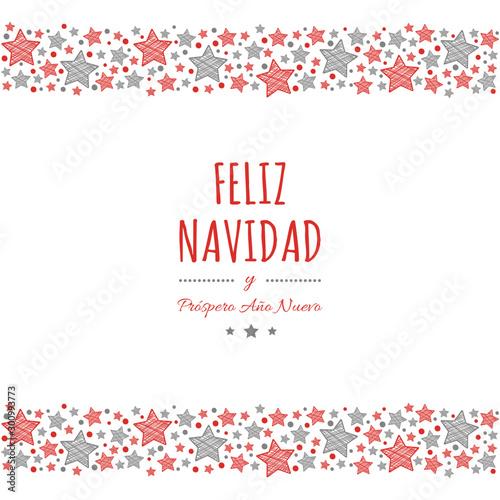 Feliz Navidad - translated from spanish as Merry Christmas Canvas Print