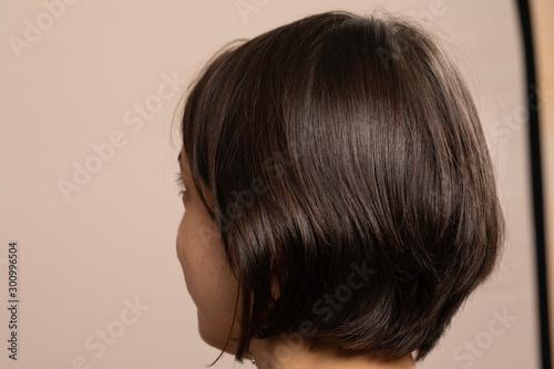 Fotografia Woman with bob haircut back view