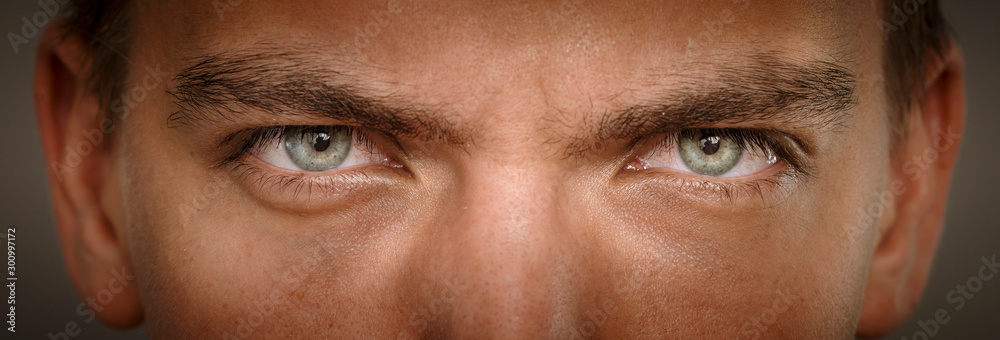 Fototapeta close-up macro shot of human eyes