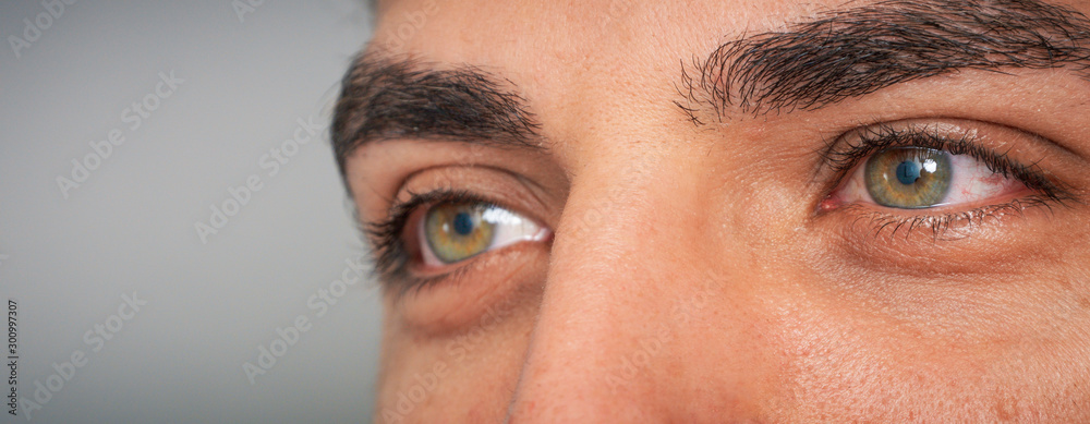 Fototapeta super macro close-up shot of human eyes