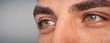 super macro close-up shot of human eyes