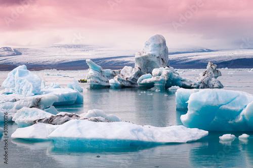 Jokulsarlon glacier lagoon in Iceland Tableau sur Toile