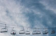 Paysage Des Deux-Alpes En Hiver , Ski Dans Les Alpes