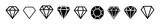 Fototapeta Kamienie - A set of diamonds in a flat style