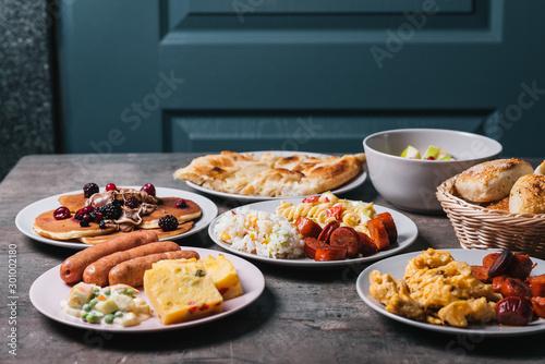 Healthy breakfast on table Canvas-taulu