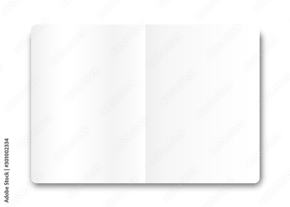 Fototapety, obrazy: Open book in realistic style .Vector graphics for web sites.