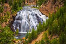 Gibbon Falls At Yellowstone Na...