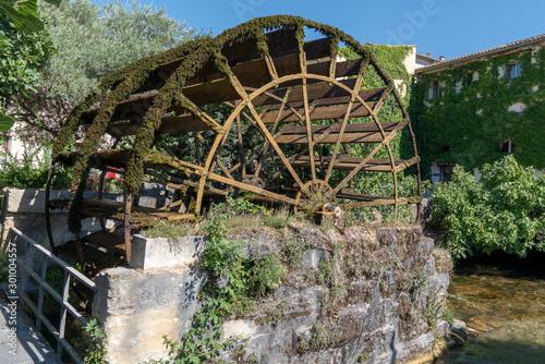 Fotomural isle sur la sorgue medieval Water Wheels in L'Isle-sur-la-Sorgue Provence France