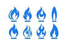 Gas Fire Flame, Vector Illustr...