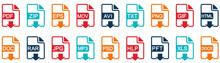 File Format Icons. Vector Illu...