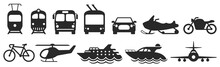 Public Transport Icons Set. Ve...