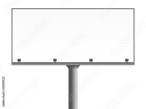 Fotomural  Blank billboard mockup. Vector illustration
