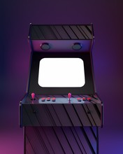 Poster Arcade Machine, Retro Wave Style!