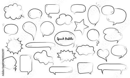 Set of Speech Bubble Wallpaper Mural