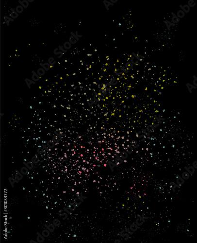 Dark glowing cosmic sparkling night grain texture background design Canvas Print