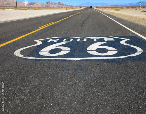 Foto auf AluDibond Route 66 Route 66, bekannteste Reiseroute in den USA