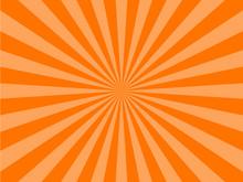 Orange Sunburst Background. Ve...