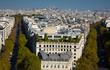 Leinwandbild Motiv Panorama of central streets of Paris