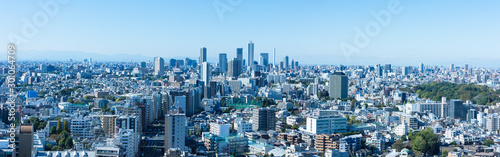 Fond de hotte en verre imprimé Tokyo (東京都-風景パノラマ)ラウンジから望む池袋方面の風景2