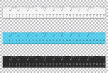 Rulers Inch And Metric Rulers. Scale For A Ruler In Inches And Centimeters. Centimeters And Inches Measuring Scale Cm Metrics Indicator. Inch And Metric Rulers. Rulers On Transparent Background Vector
