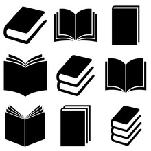 Book Set Icon, Logo Isolated O...