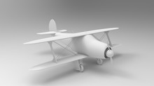 3d Rendering Of A Bi Plane Isolated In White Background