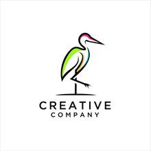 Heron Logo Design. Flamingo I...