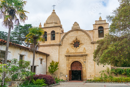 Fototapeta The Exterior of the Historic Carmel Mission