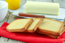 Clump Of Butter And Rusk On A ...