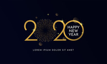 Happy New Year 2020 Typography...