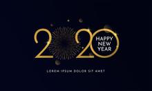 Happy New Year 2020 Typography...