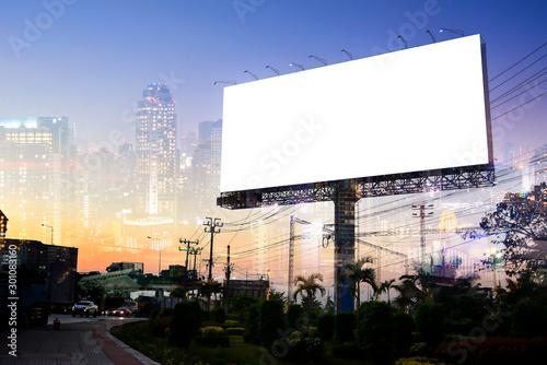 Cuadros en Lienzo  billboard blank for outdoor advertising poster or blank billboard for advertisement