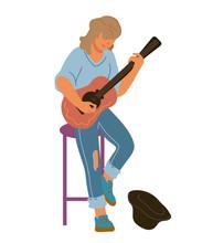 Street Musician Guitar Player ...