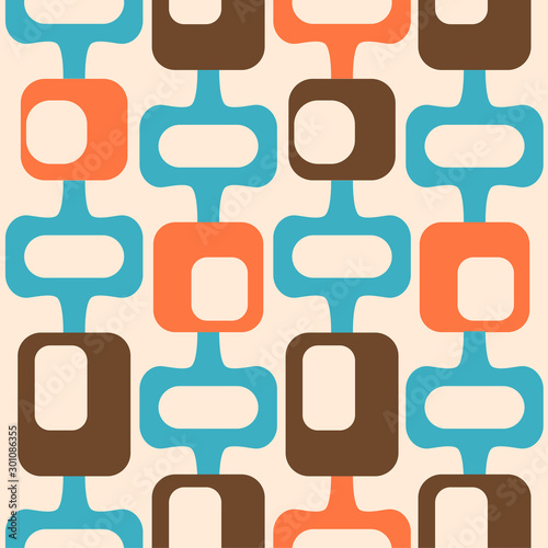 Fotomural mid century style seamless pattern