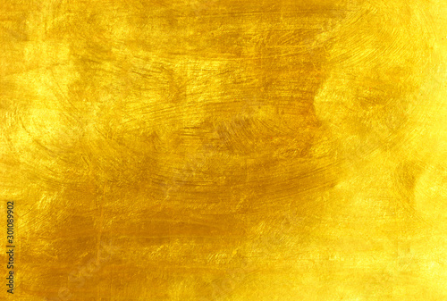 wall gold background Canvas Print