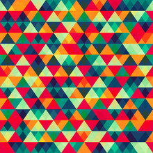 Retro Triangle Seamless Patter...