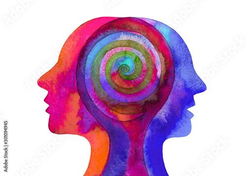 Carta da parati Disegno grafico terapia psicologia. Mente umana.