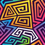 Fototapeta Młodzieżowe - Graffiti geometric seamless pattern