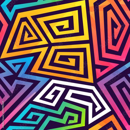 Graffiti geometric seamless pattern