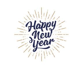 Fototapeta na wymiar Happy New Year. Lettering text for Happy New Year